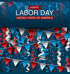 labor day background with american national flag vector image