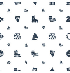 Leisure icons pattern seamless white background vector