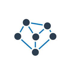 Link building networking connectivity icon vector