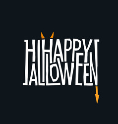 logotype design abstract halloween holiday sign vector image