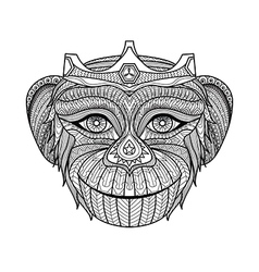 Monkey coloring book vector