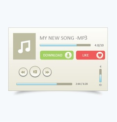 Music Player 22 vector image