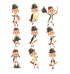 Napoleon bonaparte cartoon character french vector