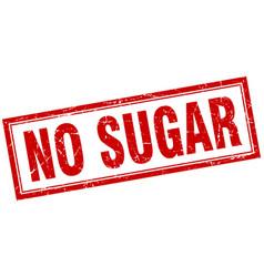 No sugar square stamp vector