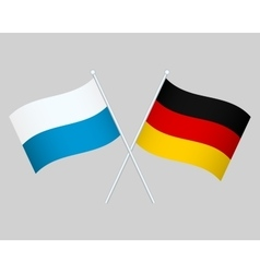 Official national flag of Germany and Bavaria vector image