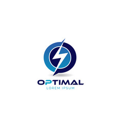 optimal power logo sign symbol icon vector image
