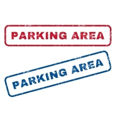 Parking area rubber stamps vector
