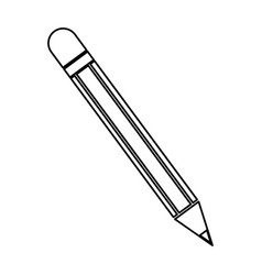 Pencil utensil school write wooden line vector