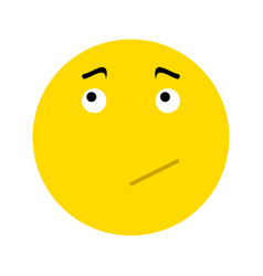 pensive smiley icon vector image