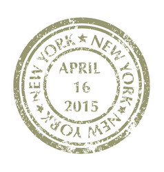 Postal stamp from new york vector
