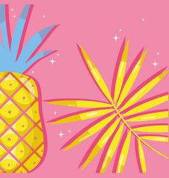 Punchy pastel pineapples vector