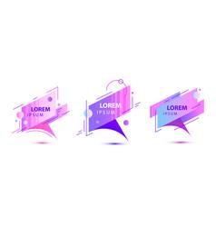 set creative geometric modern frames vector image