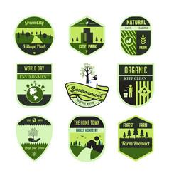 set-of-environment-badge vector image