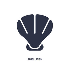 Shellfish icon on white background simple element vector