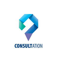sign for online consultation vector image