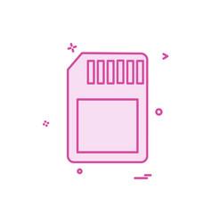 sim icon design vector image