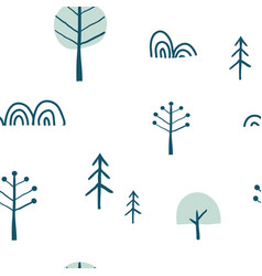 simple minimalist tree seamless pattern vector image