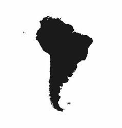 South america map monochrome america icon vector