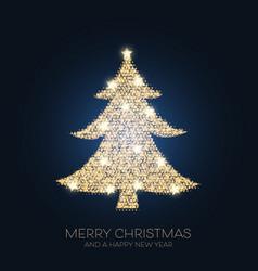 Sparkle christmas tree design vector