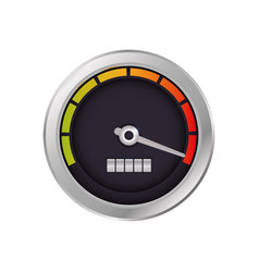speedometer power car vector image