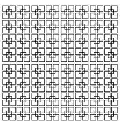 square lines isolated on a white background vector image