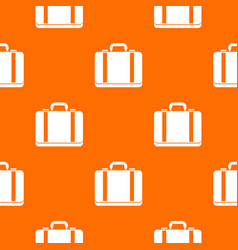 suitcase pattern seamless vector image