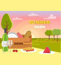 summer picnic nature products vector image