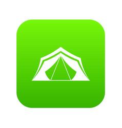 tent icon digital green vector image