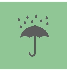 Umbrella rain icon vector image