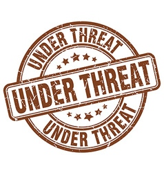 under threat stamp vector image