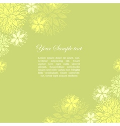 Vintage floral green background vector