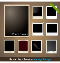 Vintage Photo Frame Design Template vector