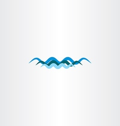 Water river wave symbol icon element vector