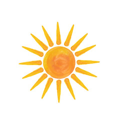 watercolor sun hello summer vector image