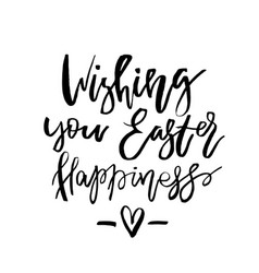 Wishing you easter happiness card with vector