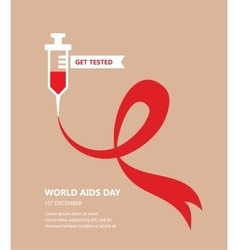 World aids day get tested concept vector