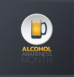alcohol awareness month icon design infographic vector image vector image