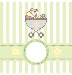 baby card with cradle vector image vector image