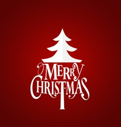 Christmas Greeting Card Merry Christmas lettering vector image vector image