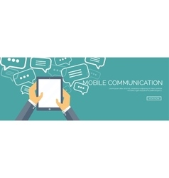 Flat communication background vector image
