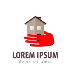 house logo design template construction vector image