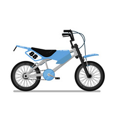 Kids sport bicycle isolated icon vector