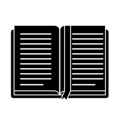 open book school learning library pictogram vector image