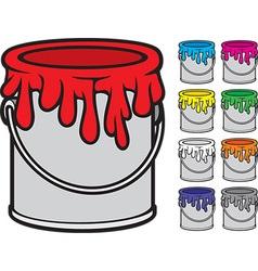 Paint bucket vector image vector image