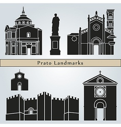 Prato landmarks and monuments vector image