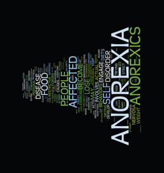 The malign effects of anorexia nervosa text vector