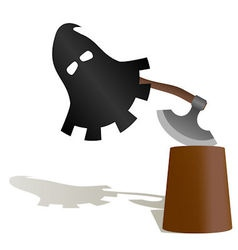 The mask and the executioners ax vector image vector image