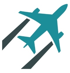 Air jet trace flat icon vector