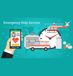 business banner - emergency help service vector image