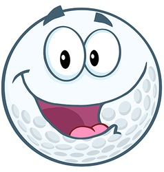 Happy Golf Ball Cartoon Mascot Character vector image vector image